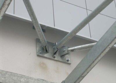 Costruzione metallica - Dettaglio Lavorazione ferro e Acciaio in sardegna- Cappannoni e capriate acciaio Nuaova Sismet Srl Sassari Sardegna