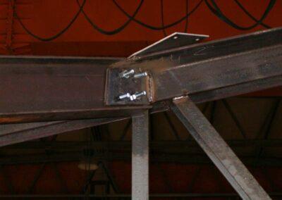 Lavorazione Capriata acciaio - (dettaglio) Scale ferro e acciaio Lavorazione ferro e Acciaio in sardegna- Cappannoni e capriate acciaio Bonifica amianto Nuaova Sismet Srl Sassari Sardegna