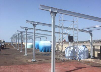 Bandiera Gialla Sassari - Struttura per impianto fotovoltaico lavorazione ferro e Acciaio in sardegna- Cappannoni e capriate acciaio Nuaova Sismet Srl Sassari Sardegna