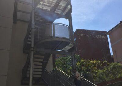 Università Agraria Sassari - Scala di Sicurezza antincendio Lavorazione ferro e Acciaio in sardegna- Scale di sicurezza antincendio - scale in ferro - acciaio Nuova Sismet Srl - Sassari Sardegna