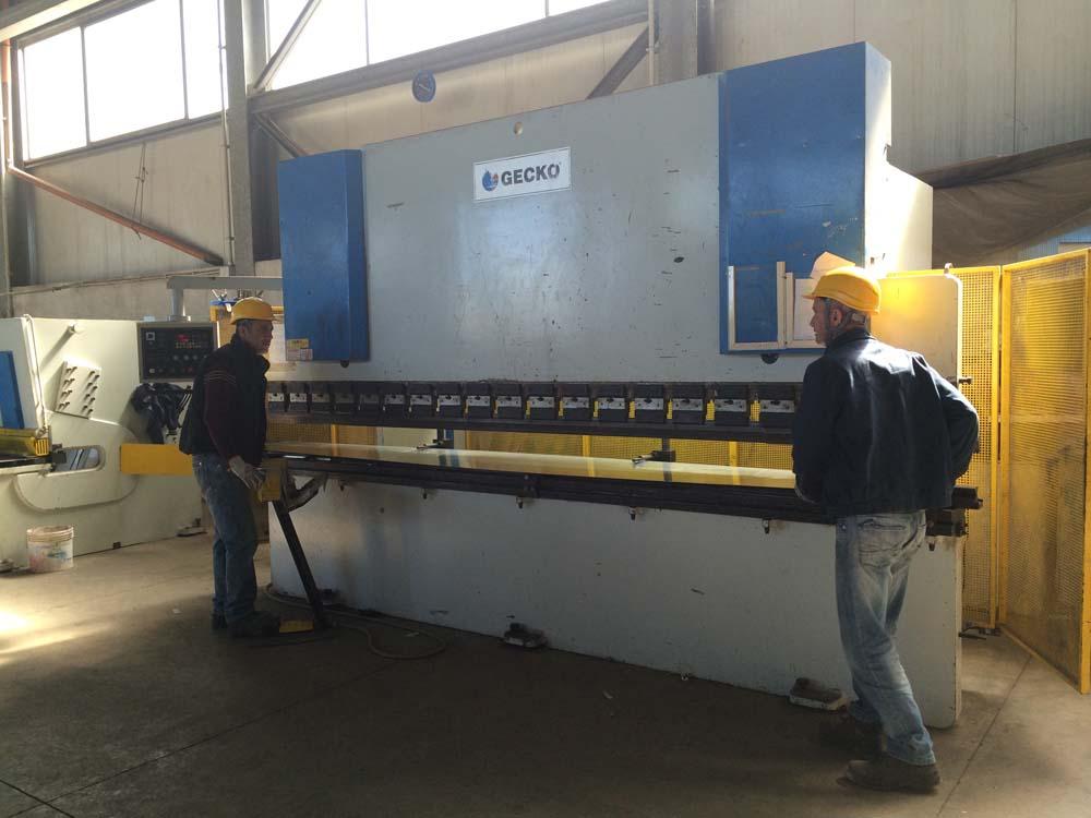 Questura di Sassari - Scala di sicurezza in acciaio